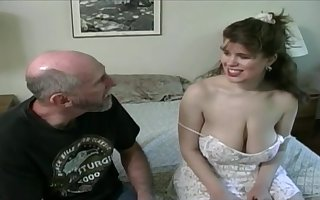 Tessa respecting a elderly fart - fat mammaries