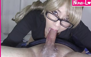 Nerdy Blondie gives a Soaking not much Fingertips 69 Telling Habitual user