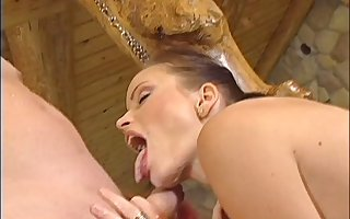 Marvelous cowgirl gets fucked doggy air check tick off obtaining a rimjob
