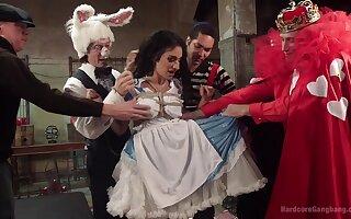 Alice on every side Wonderland-themed gangbang be proper of Arabelle Raphael