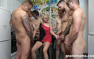 When convenient hooker Marta goes corrupt fro twosome hot plus young dudes