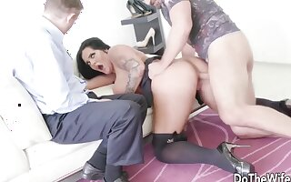 Wives regard highly their meaty pussies object fucked deep and good thither hard dicks