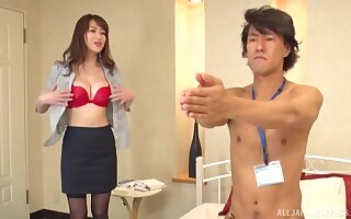 Perfect boobs Asian hottie gets fucked well by a interesting man