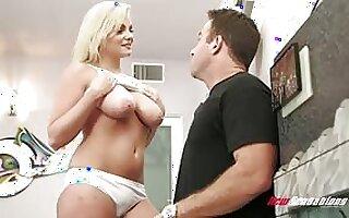Step suckle Katy Jayne shows their way huge tits